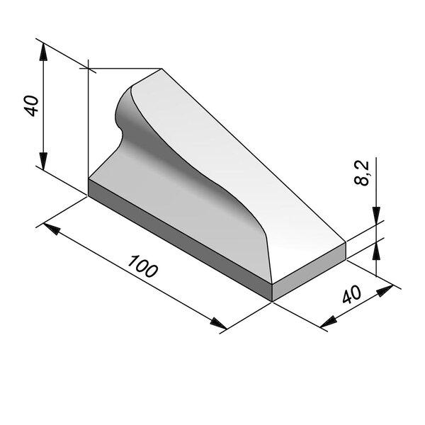 Product image for Bordure chasse-roues bas LS 40x40 type IVa1 Pièce d'arrêt Droite élément E