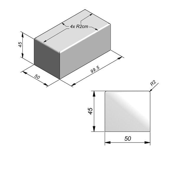 Product image for Objects Siège Droit 99,5x50 cm (Lxl)x45 cm (H)