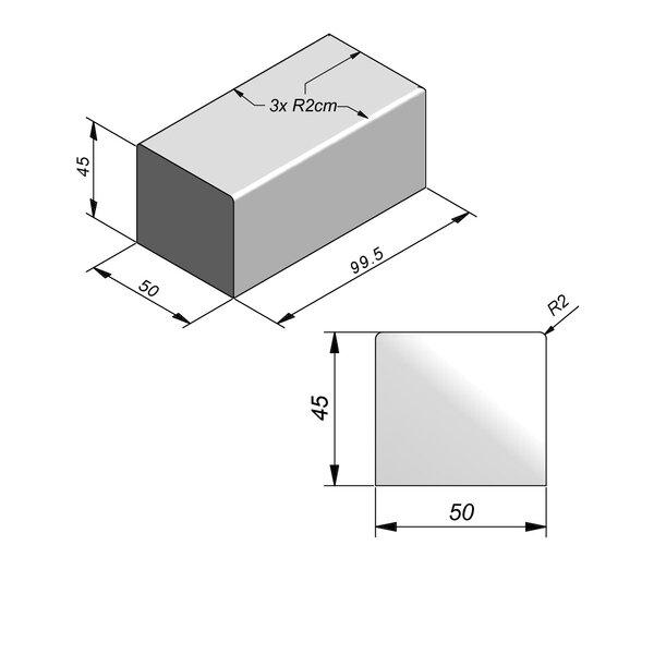 Product image for Objects Siège Pièce de finition 99,5x50 cm (Lxl)x45 cm (H)