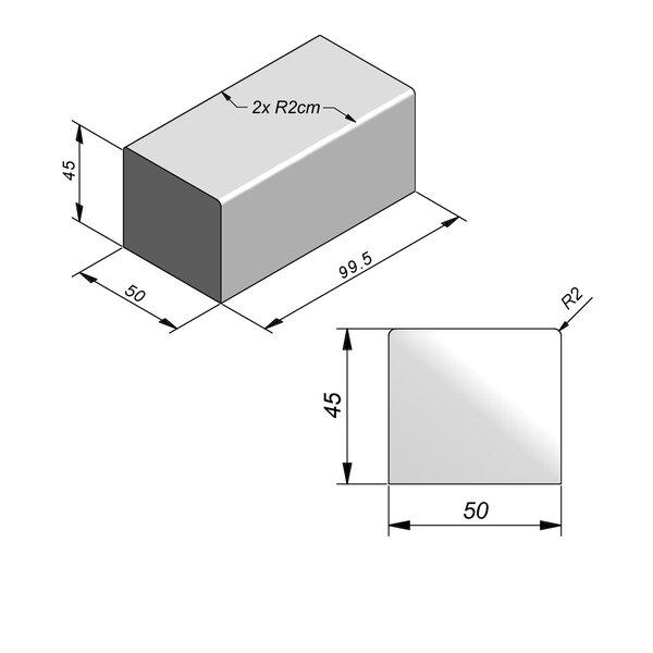 Product image for Objects Siège Pièce intermédiaire 99,5x50 cm (Lxl)x45 cm (H)