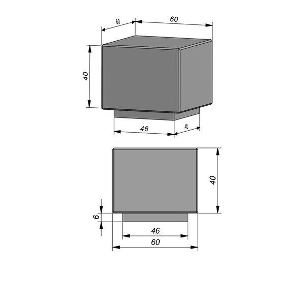 Product image for Objects Siège Bla Bla Bloc 46/60x46/60 cm (Lxl)x6/46 cm (H) avec pied