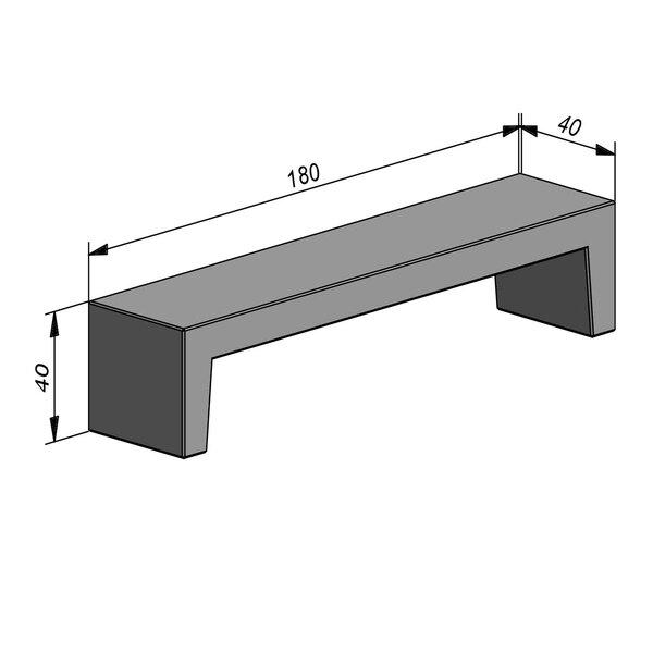 Product image for Objects Zitbank Parisienne 180x40 cm (LxB)x40 cm (H)