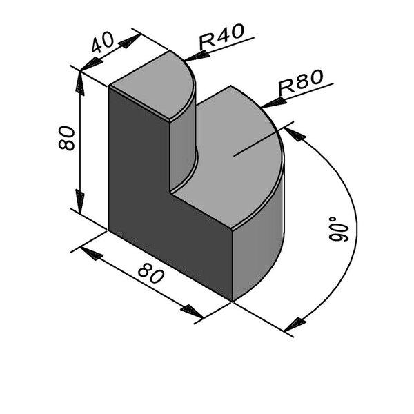 Product image for Objects Classe de théâtre Elément d'angle 80x80 cm (Lxl)x80 cm (H)