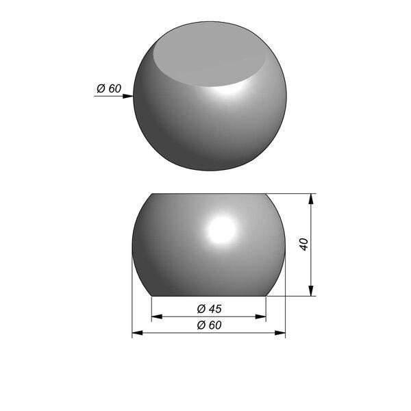 Product image for Objects Sphère décoratif Parti-Sphere Diam. 60 cmx40 cm (H)