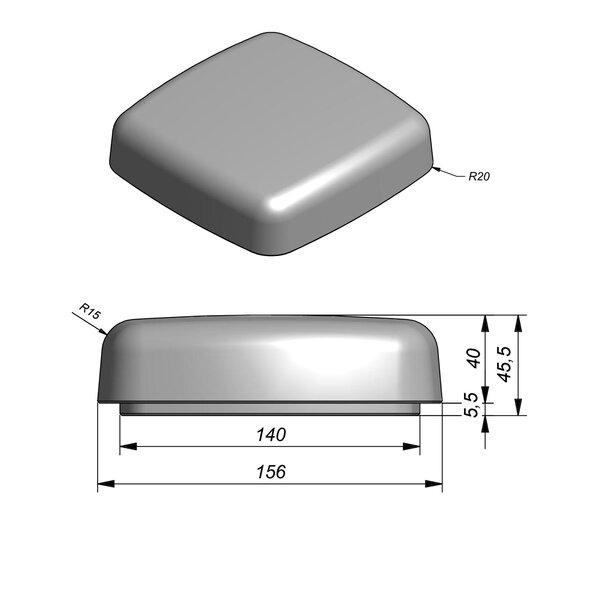 Product image for Objects Siège Pouf 136/156x136/156 cm (Lxl)x6/46 cm (H) avec pied