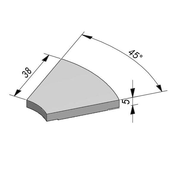 Product image for Opliggend Bocht 4,5/5x38 voor bochtstuk 45° greppel T28