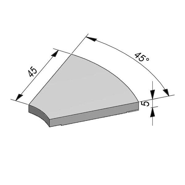 Product image for Opliggend Bocht 4,5/5x45 voor bochtstuk 45° greppel T30