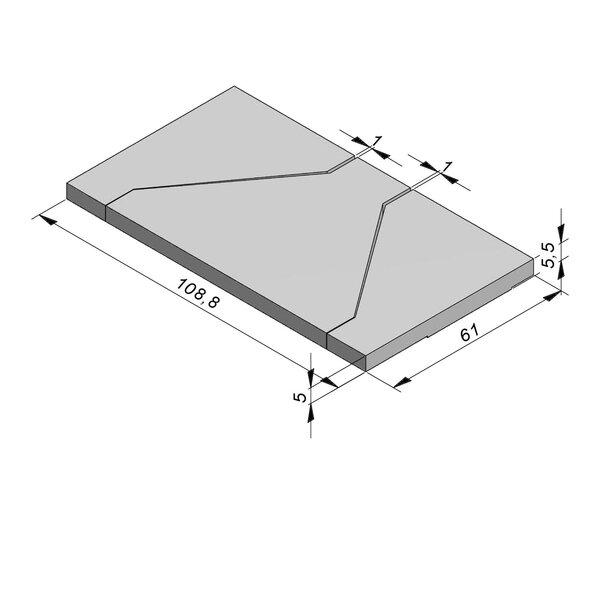 Product image for Opliggend 100 cm x 61x5/5,5 cm (3-delig)