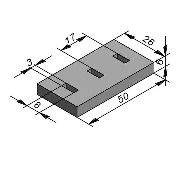 Product image for Inliggend 50 cm x 6x26 CRA IN met gleuven Type water