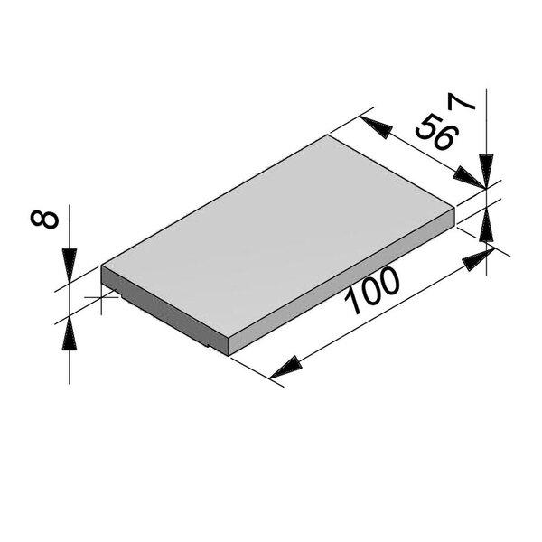 Product image for Opliggend 100 cm x 7/8x56 RTT Type kabel