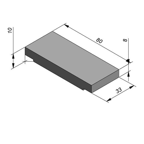 Product image for Opliggend 33 cm x 8/10x80 PI.ES Type kabel