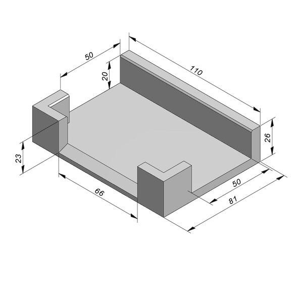 Product image for U-vormig - Deksel opliggend 66/81x20/26 cm Type kabel T50 T-stuk naar 2xT28
