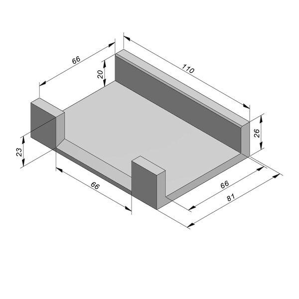 Product image for U-vormig - Deksel opliggend 66/81x20/26 cm Type kabel T-stuk naar 2xT28