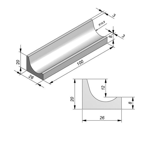 Product image for Greppel 26x20 cm Fietsgoot