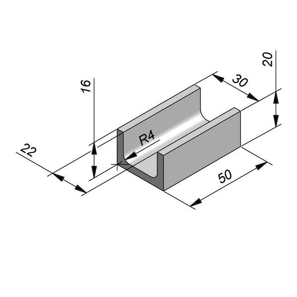 Product image for U-vormig - Deksel opliggend 22/30x16/20 cm Type kabel T22 gewapend