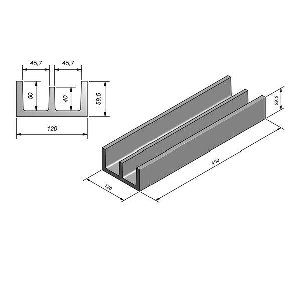Product image for Standaard 379 cm x 46/46/120x50/60 cm Type kabel  dubbel zonder rabat