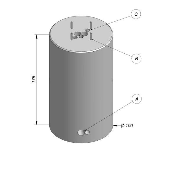 Product image for Bloc de fondation socle pour mât Ø100x175 cm