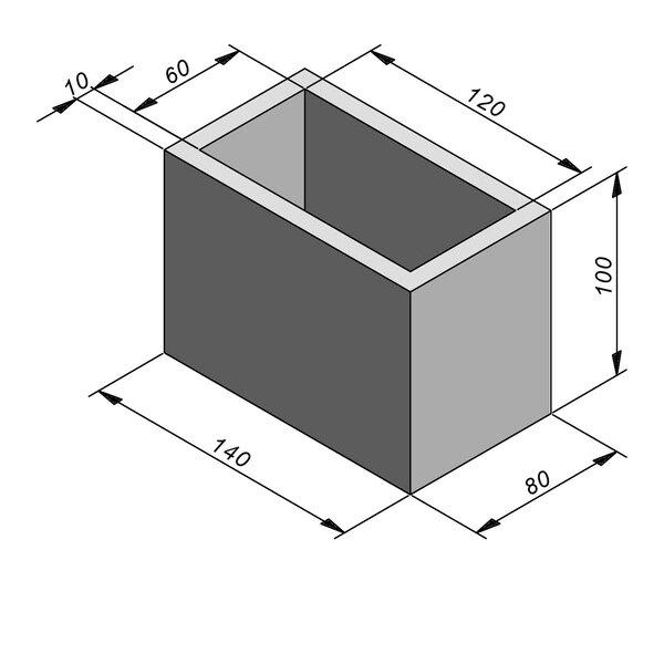 Product image for Chambre de contrôle standard 120x60 cm (Lxl int.)x100 cm (H)