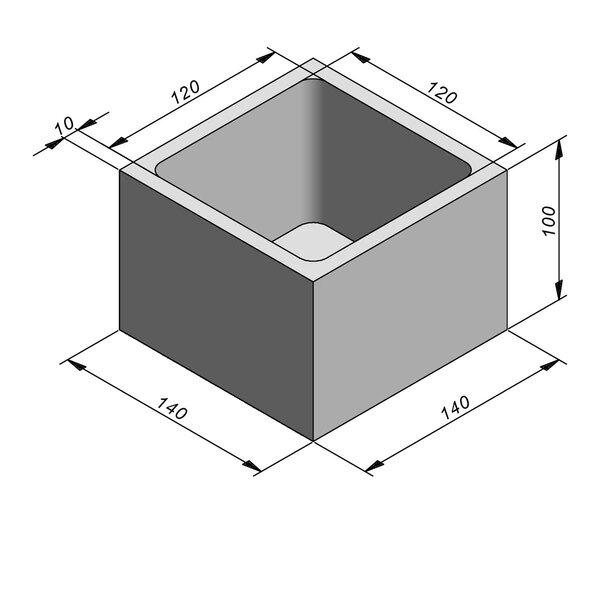 Product image for Chambre de contrôle standard 120x120 cm (Lxl int.)x100 cm (H)