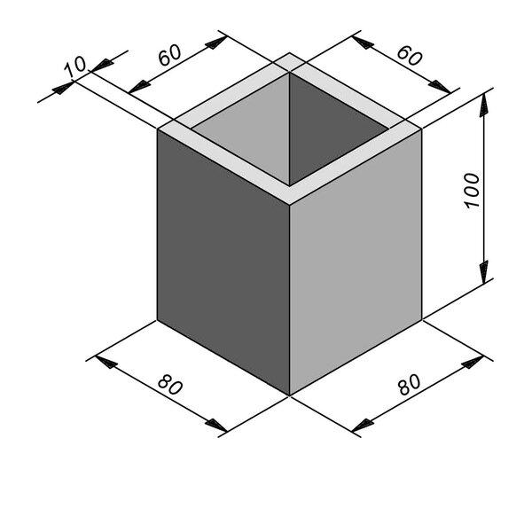 Product image for Chambre de contrôle standard 60x60 cm (Lxl int.)x100 cm (H)