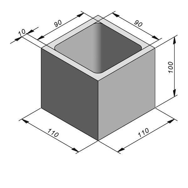 Product image for Chambre de contrôle standard 90x90 cm (Lxl int.)x100 cm (H)