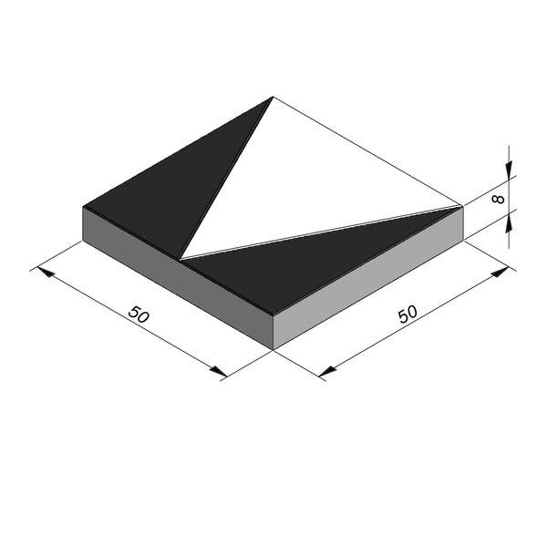 Product image for Marquage routier Dents de requin 50x50 cm