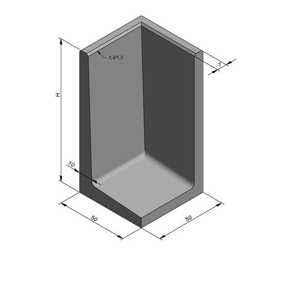 Product image for L-element type 50 50x50 (BxL) Hoekstuk