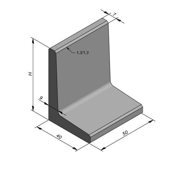 Product image for L-element type 50 40x50 (BxL) x 60 cm (H)