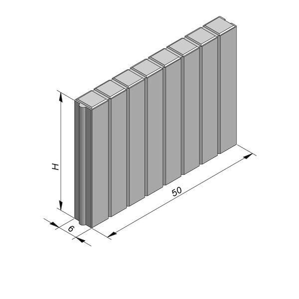 Product image for Palissadeboordsteen 50x6