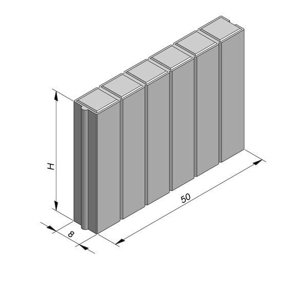 Product image for Palissadeboordsteen 50x8