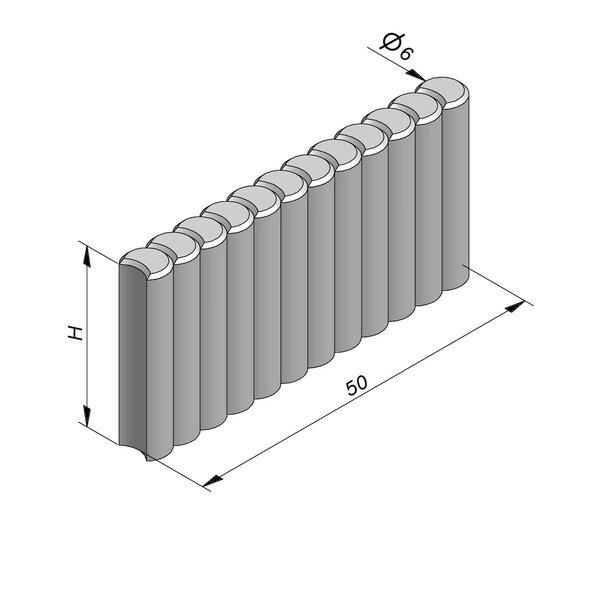 Product image for Palissadeboordsteen 50xD6