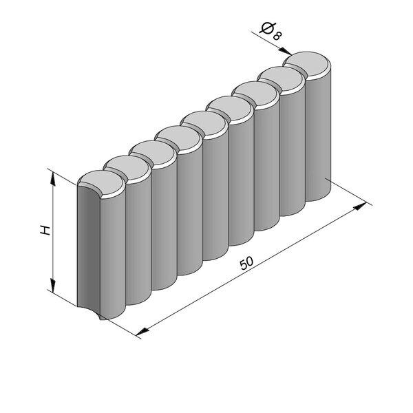 Product image for Palissadeboordsteen 50xD8