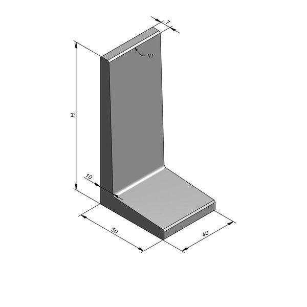 Product image for L-element type 40 50x40 (BxL) x 100 cm (H)