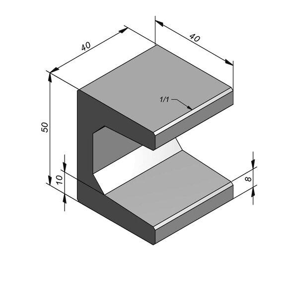 Product image for U-element 40x40 (BxL) x 50 cm (H)