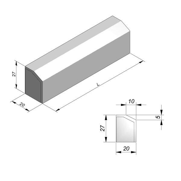 Product image for Bordure 27x20 cm 5/10 cm IE