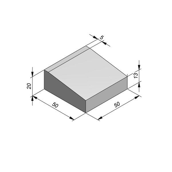 Product image for Bordures d'accès 20x50 cm 7/45 cm type IE centre