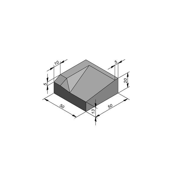 Product image for Bordures d'accès 20x50 cm 7/45 cm type IE gauche