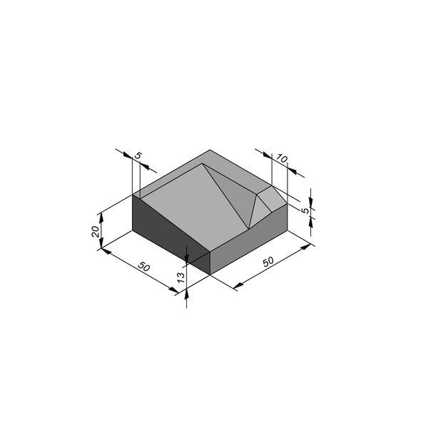 Product image for Bordures d'accès 20x50 cm 7/45 cm type IE droite